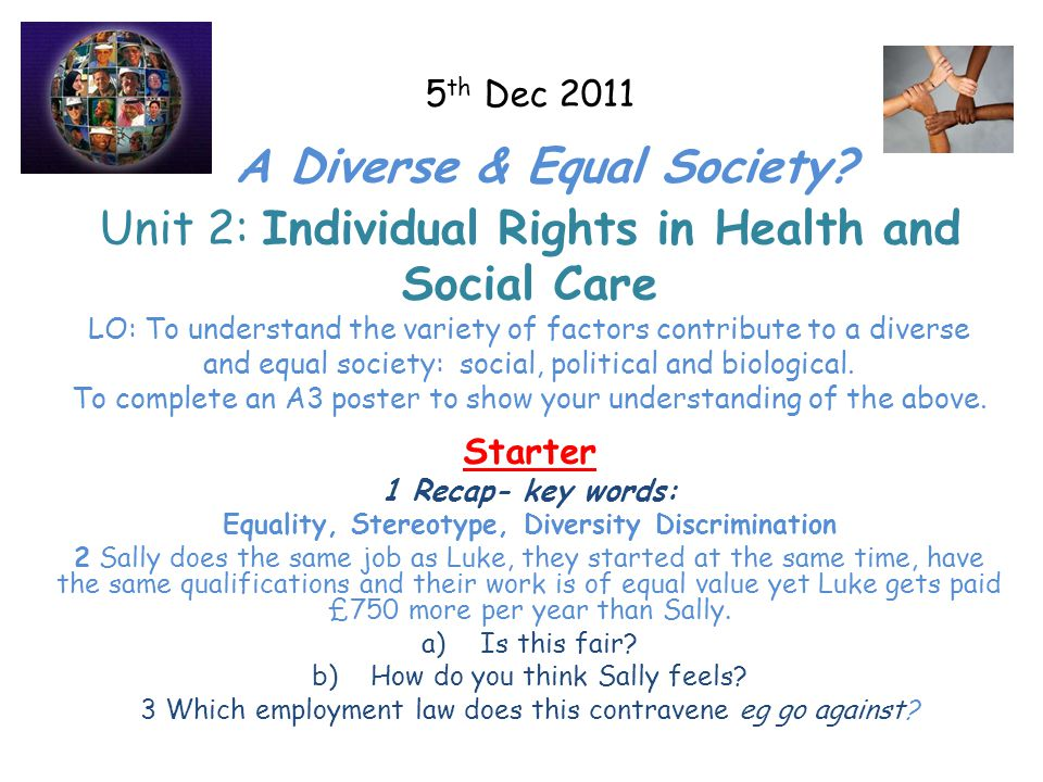 equality diversity and rights within health and social care essay  equality diversity and rights within health and social care essay our work  on human rights in