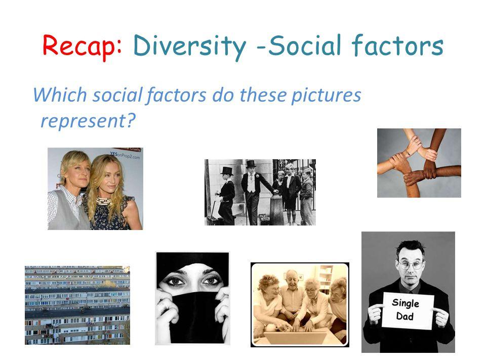 Recap: Diversity -Social factors