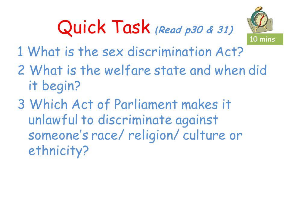 Quick Task (Read p30 & 31) 10 mins.