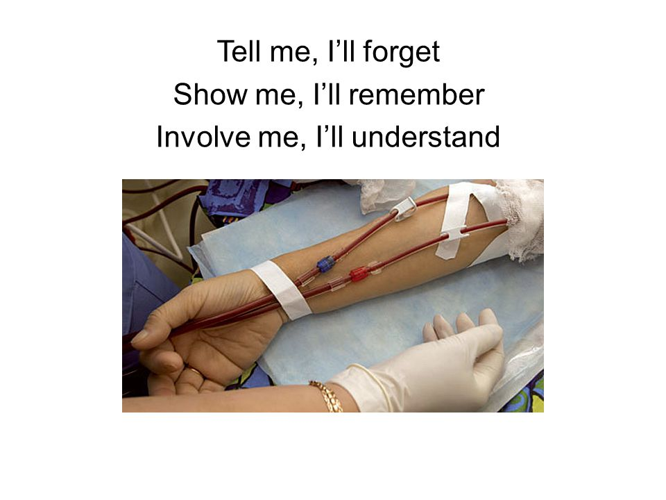 Tell me, I'll forget Show me, I'll remember Involve me, I'll understand