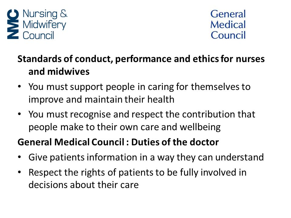 Standards of conduct, performance and ethics for nurses and midwives