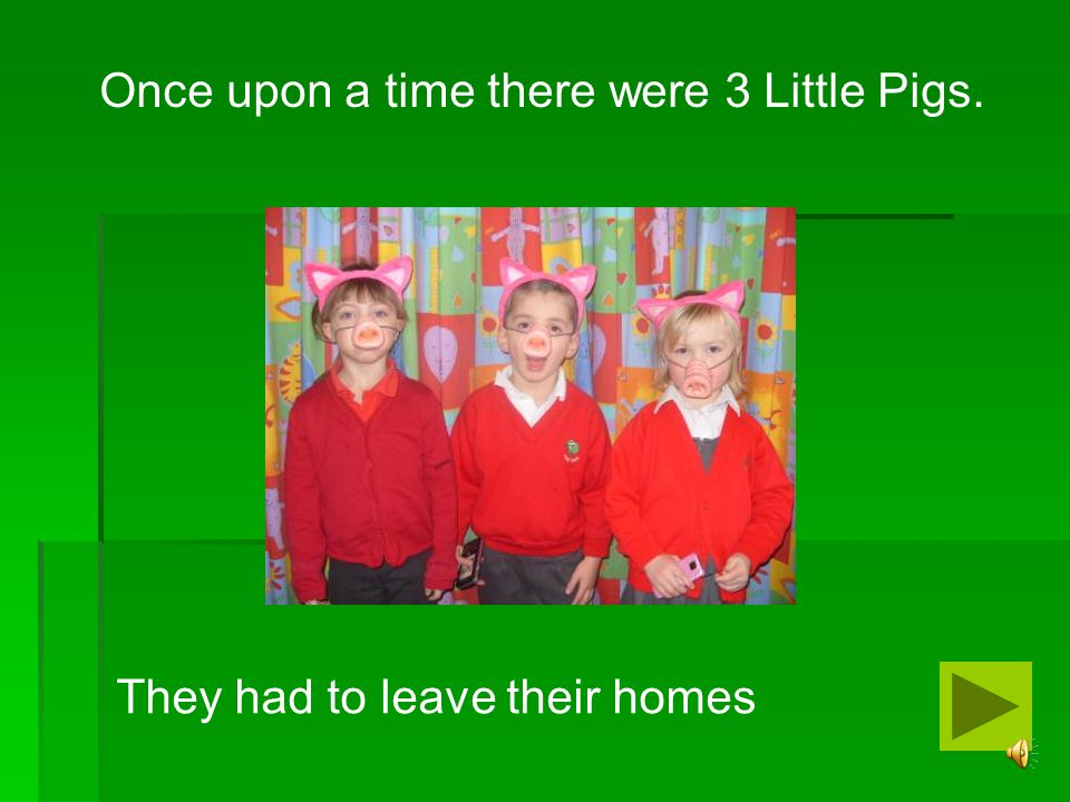 Once upon a time there were 3 Little Pigs.