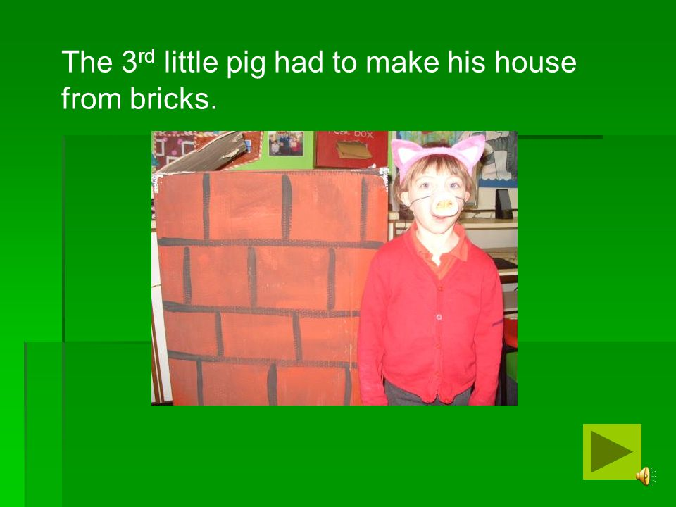 The 3rd little pig had to make his house