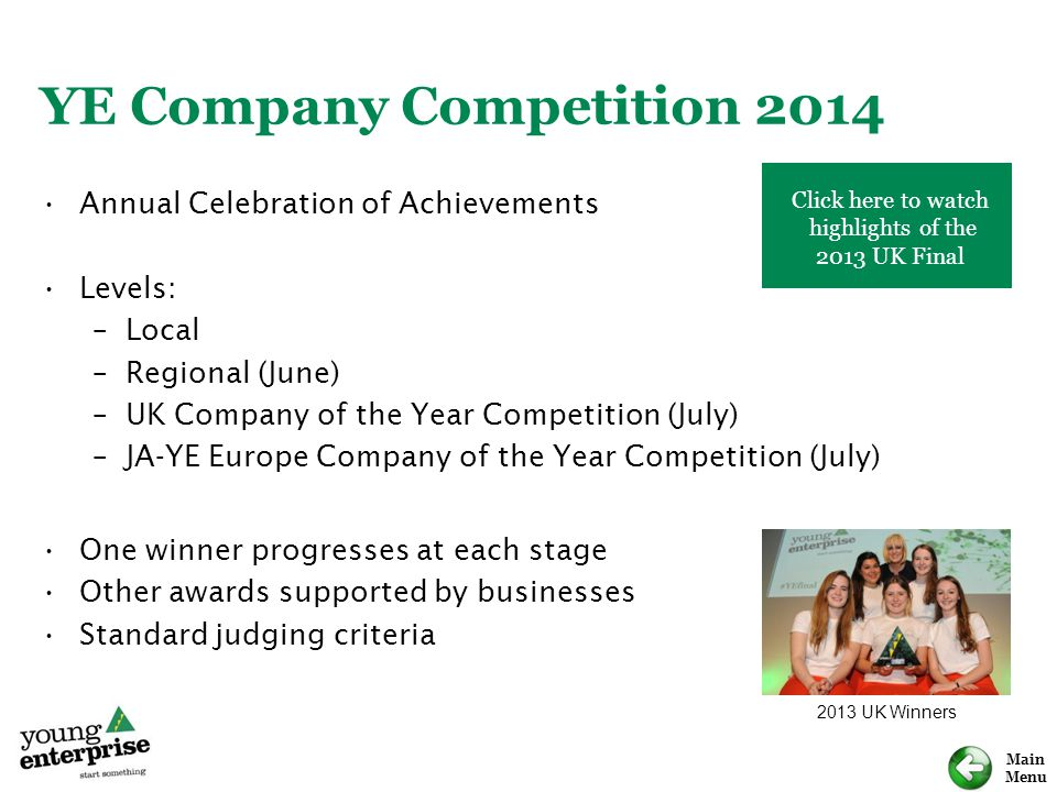 YE Company Competition 2014