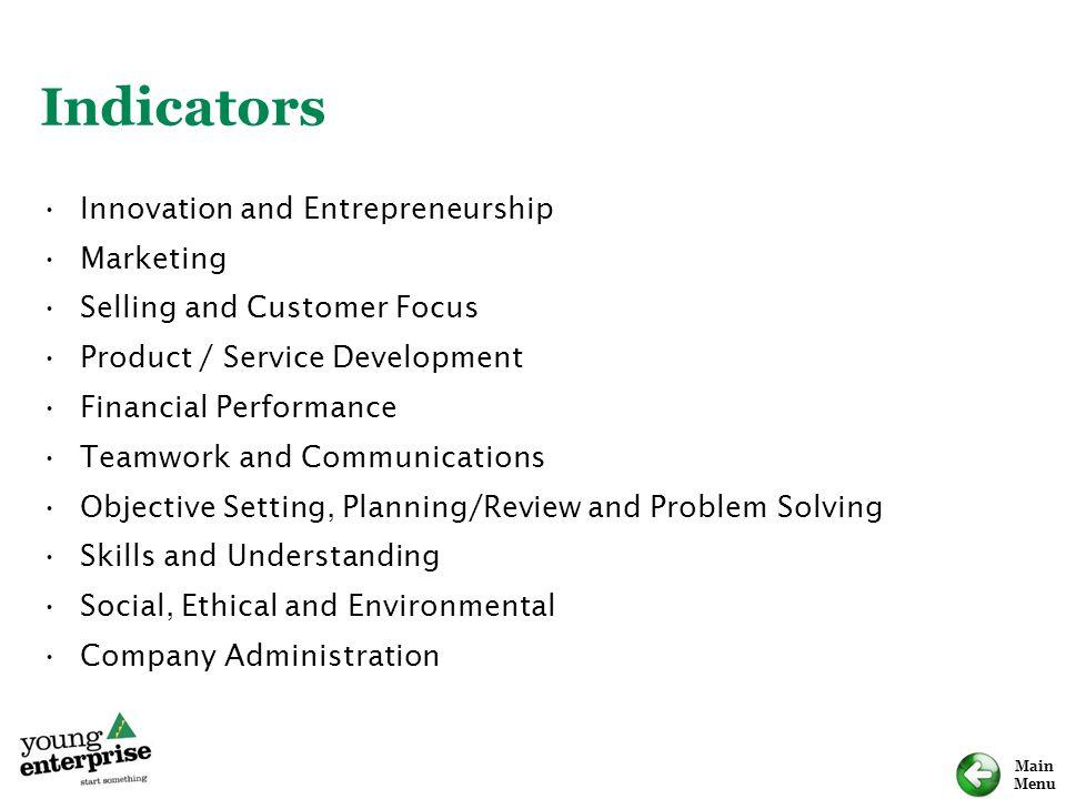 Indicators Innovation and Entrepreneurship Marketing