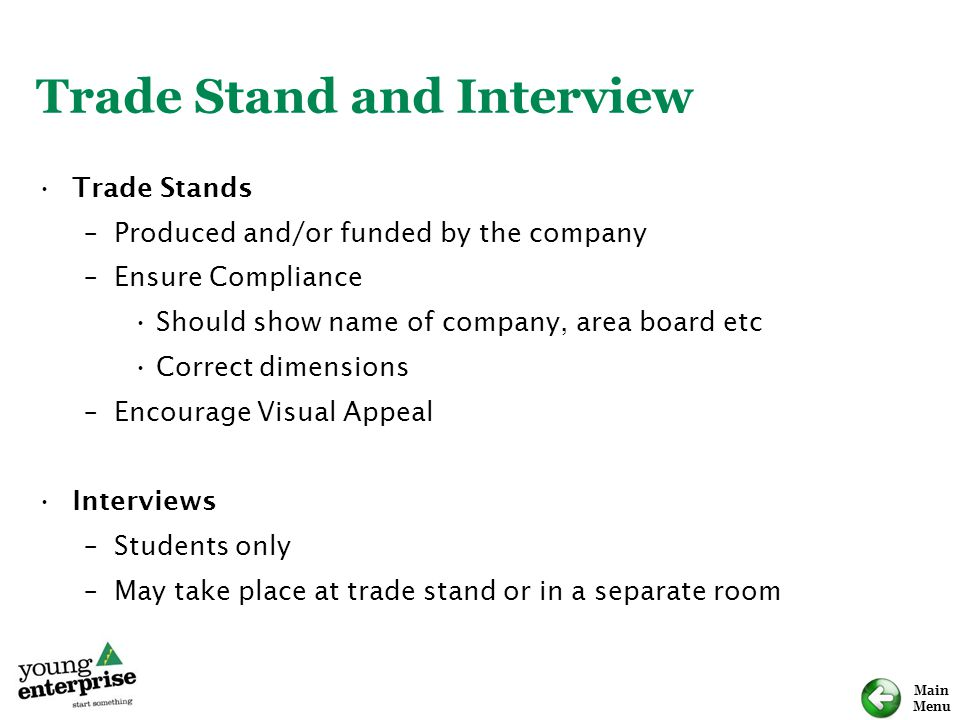 Trade Stand and Interview
