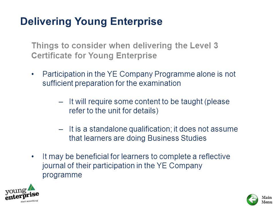 Delivering Young Enterprise
