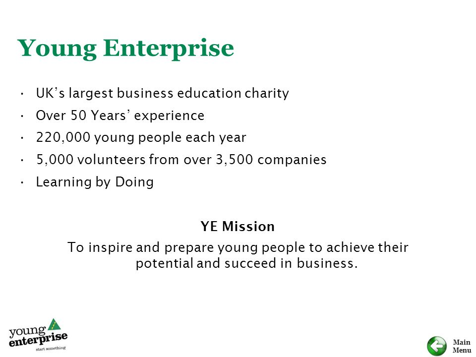 Young Enterprise UK's largest business education charity