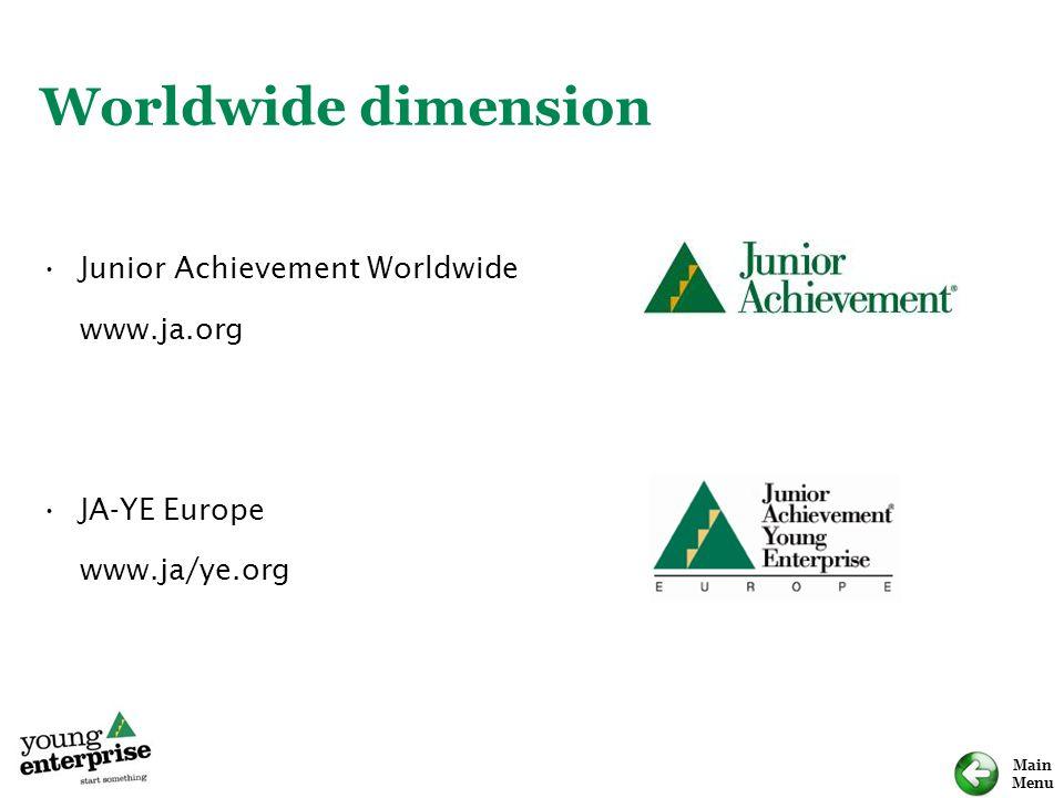 Worldwide dimension Junior Achievement Worldwide www.ja.org