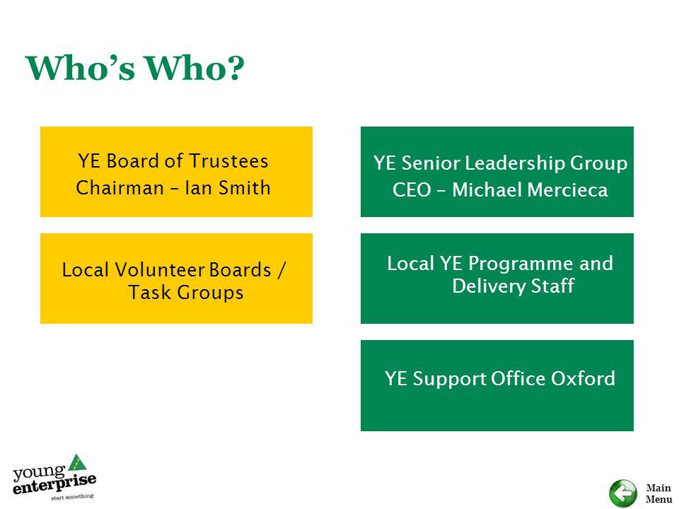 Who's Who YE Board of Trustees YE Senior Leadership Group