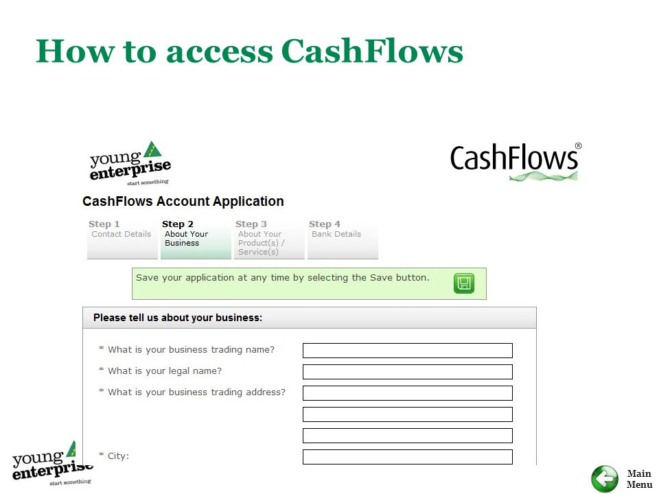 How to access CashFlows