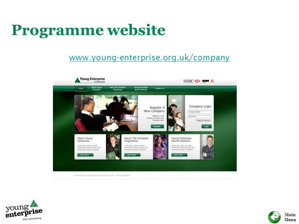 Programme website www.young-enterprise.org.uk/company