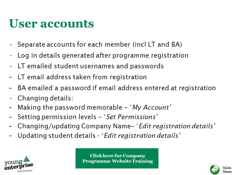 Programme Website Training