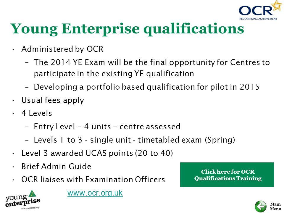 Young Enterprise qualifications