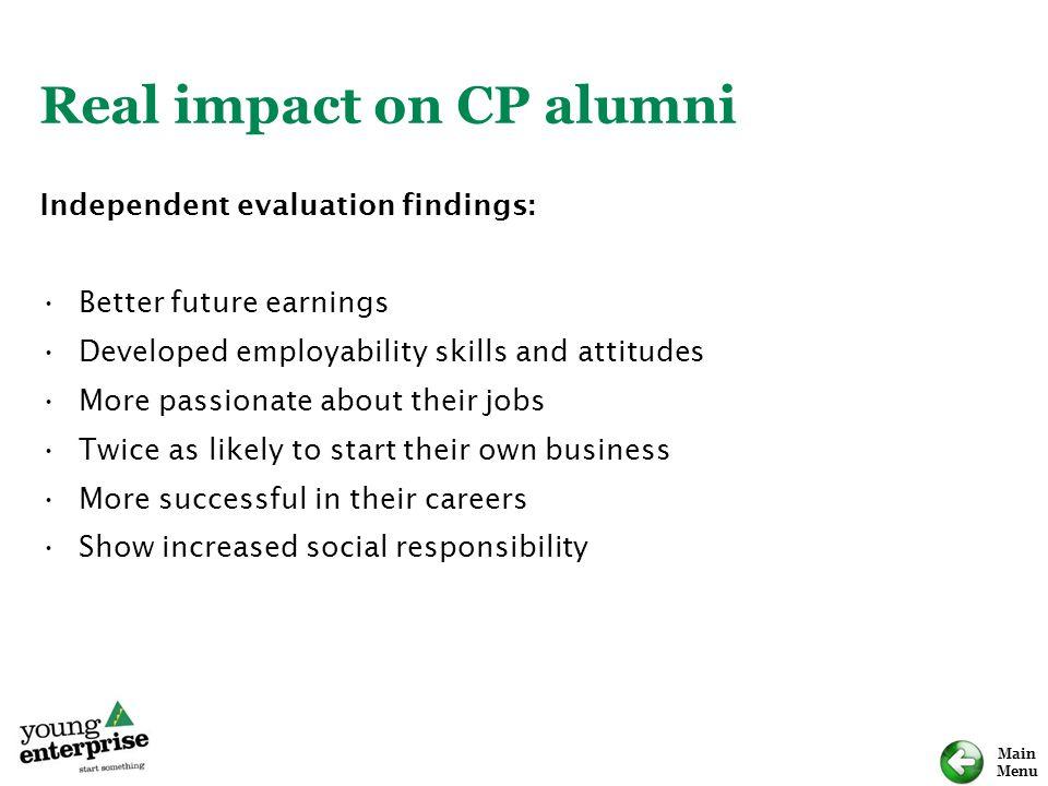 Real impact on CP alumni