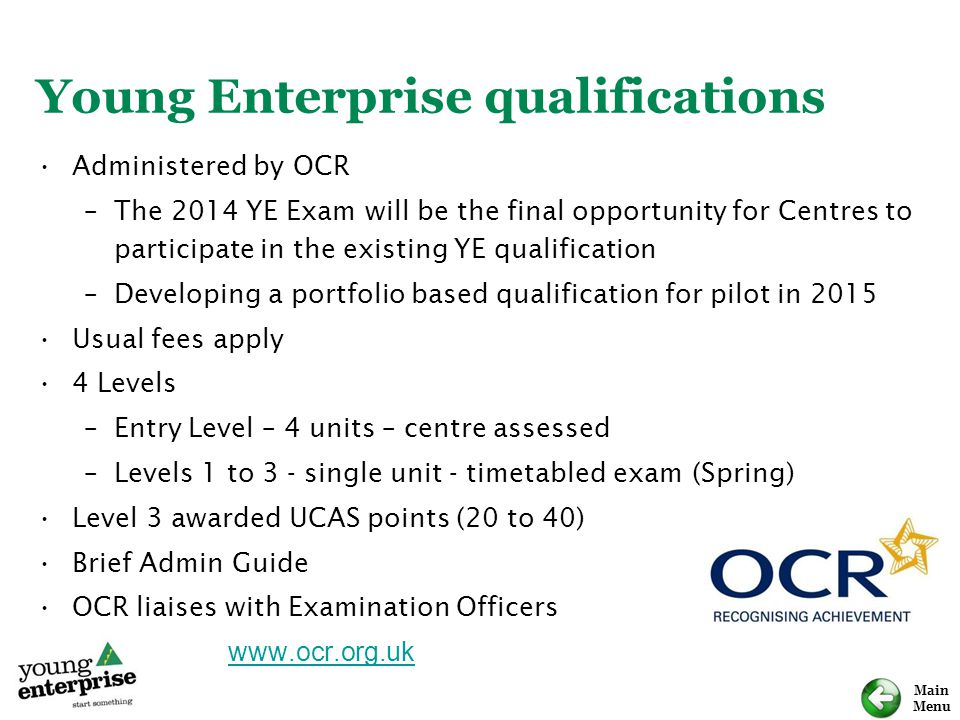 Young Enterprise qualifications