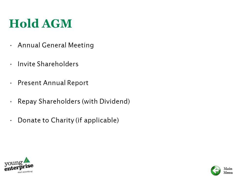 Hold AGM Annual General Meeting Invite Shareholders