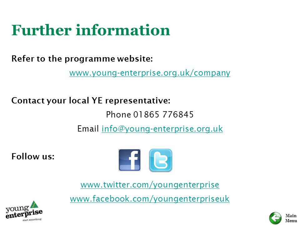 Email info@young-enterprise.org.uk