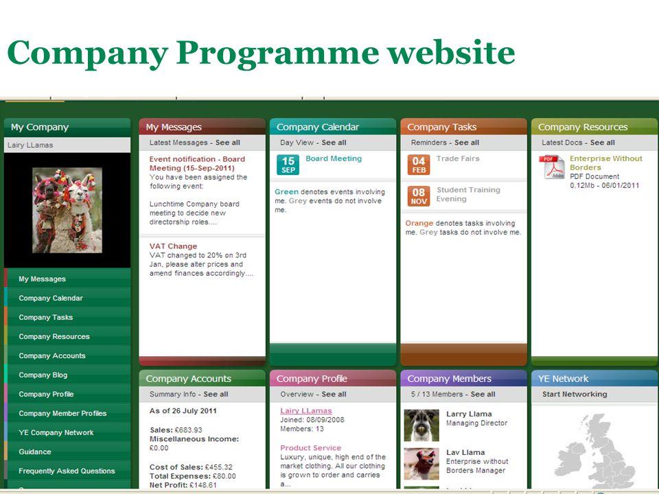 Company Programme website