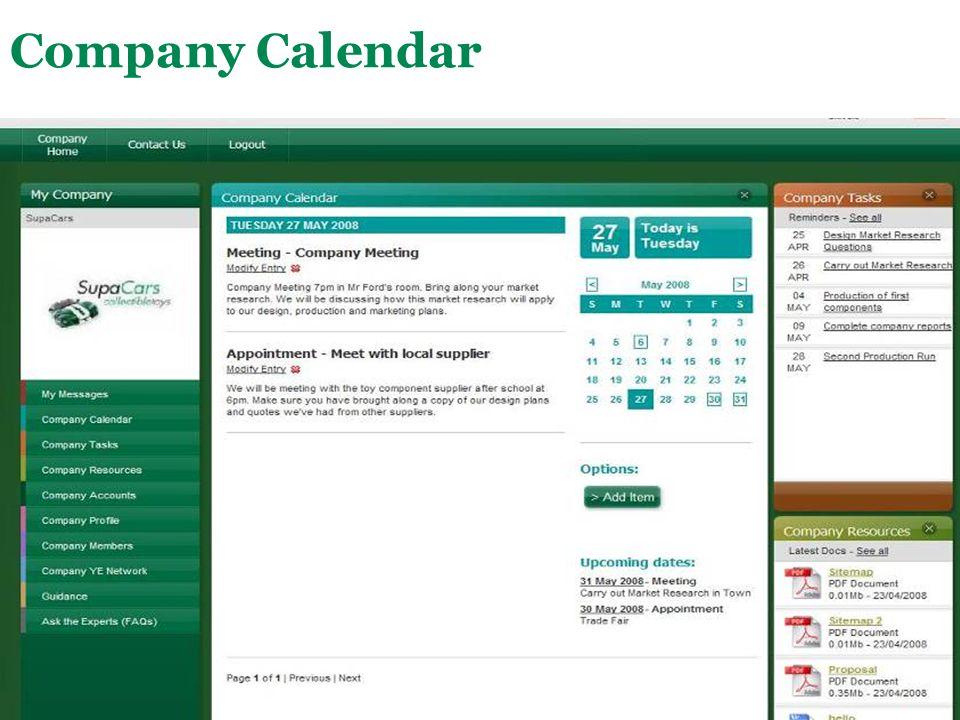 Company Calendar This is a shared company calendar.