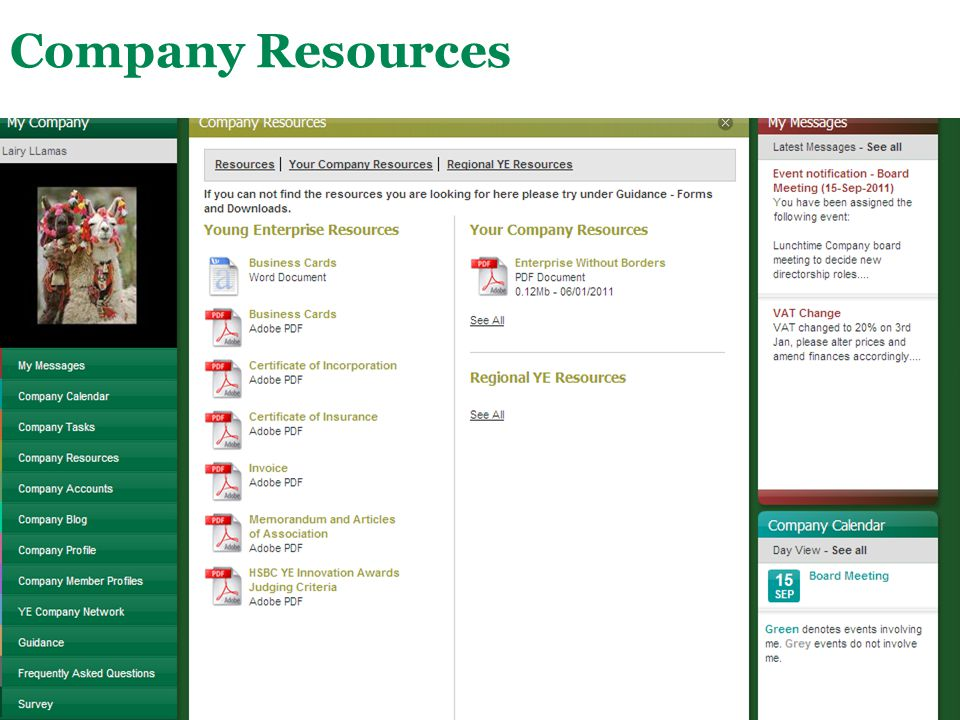 Company Resources This is a place where company resources (files) are stored.