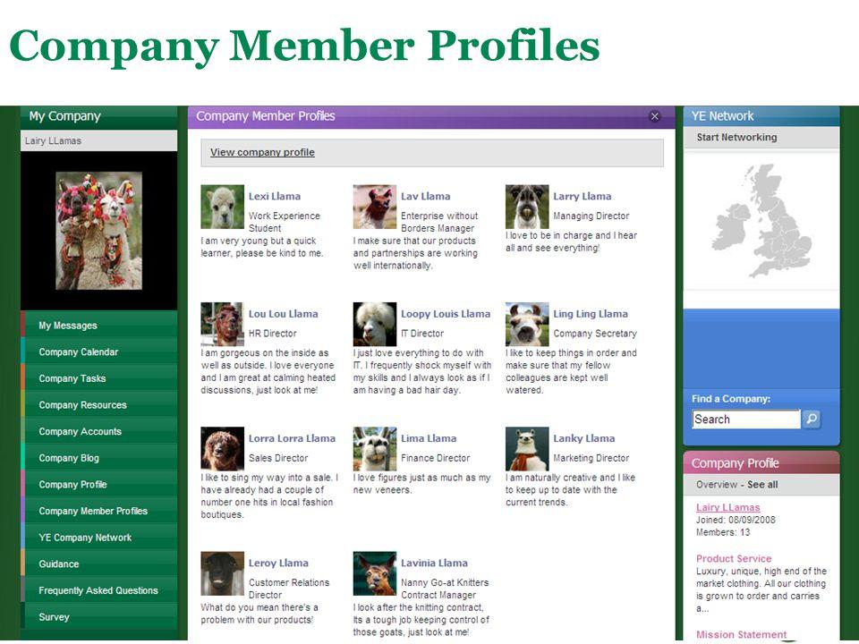 Company Member Profiles