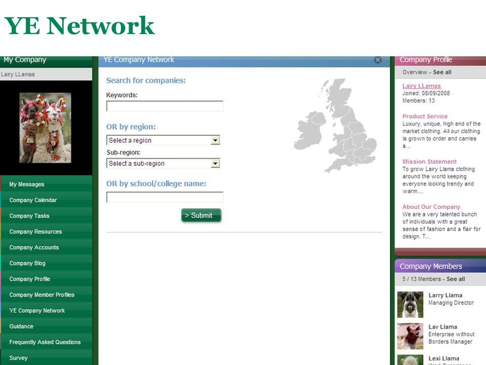 YE Network The YE Network can be used by all students across the UK.