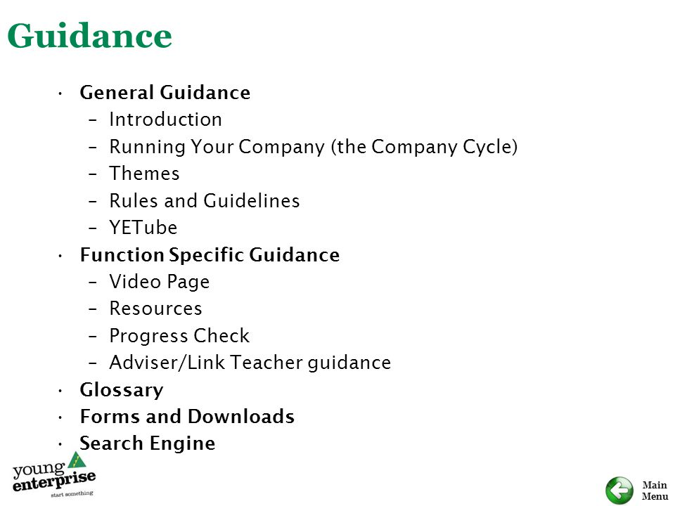 Guidance General Guidance Introduction