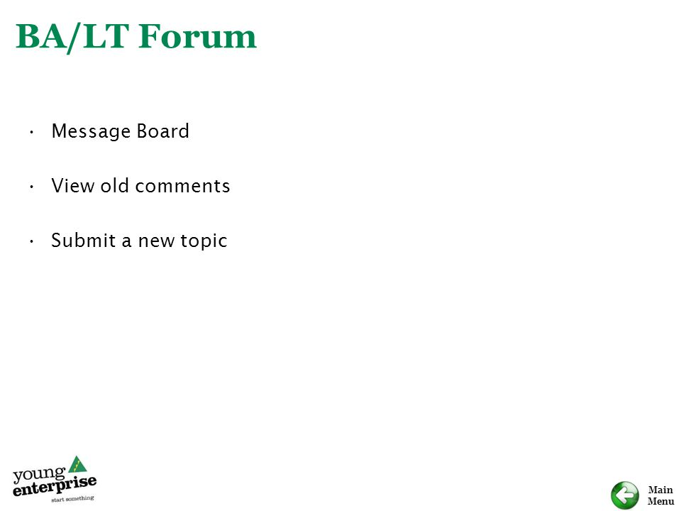 BA/LT Forum Message Board View old comments Submit a new topic