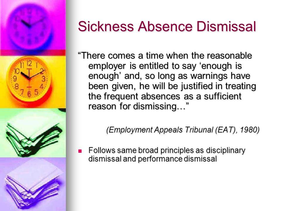 Sickness Absence Dismissal