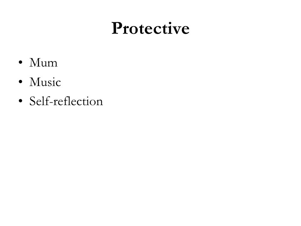 Protective Mum Music Self-reflection