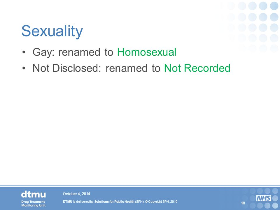 Sexuality Gay: renamed to Homosexual