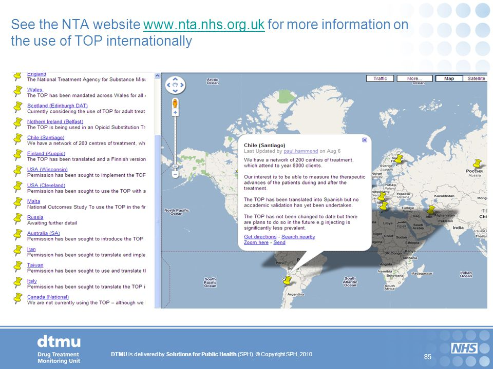 See the NTA website www. nta. nhs. org