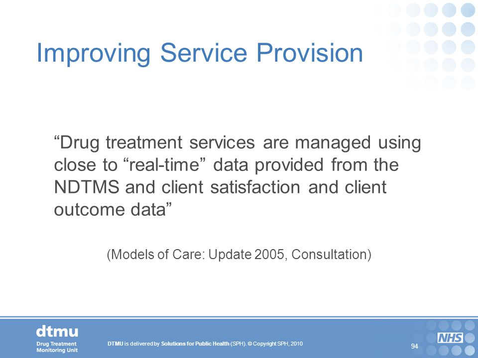 Improving Service Provision