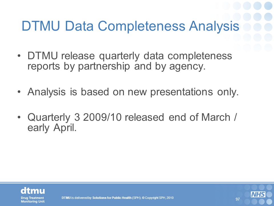 DTMU Data Completeness Analysis
