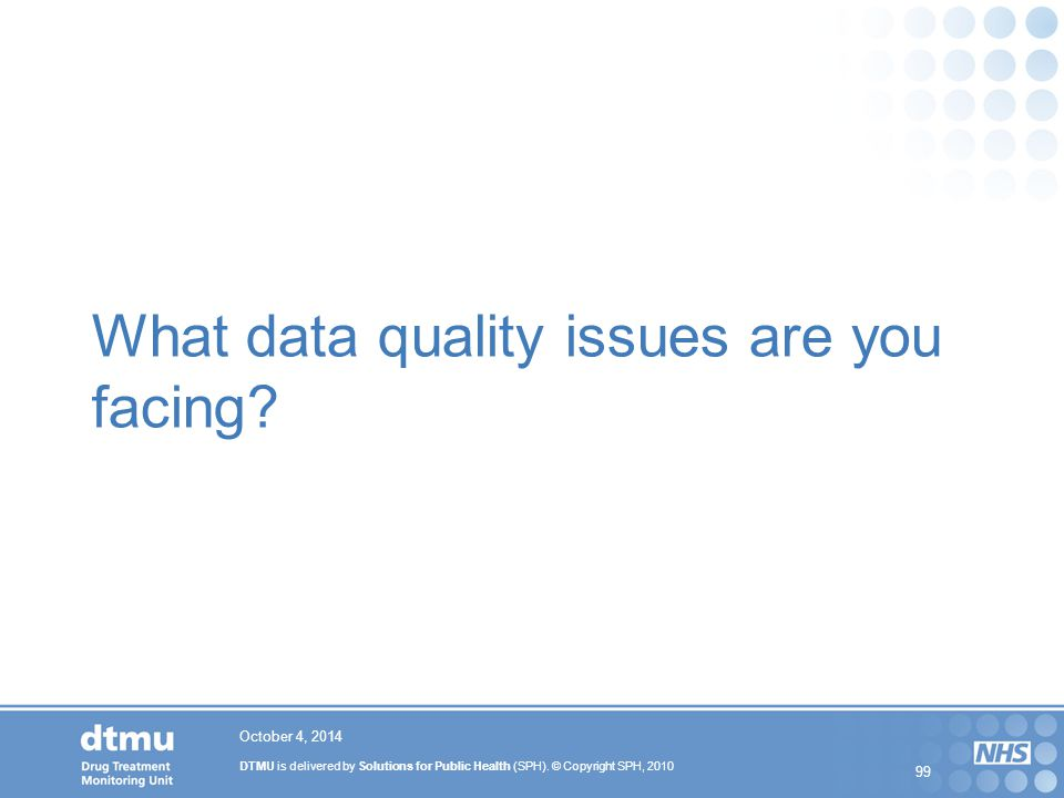 What data quality issues are you facing