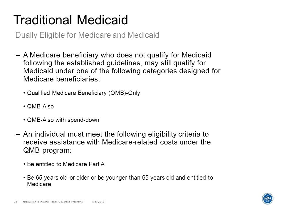 Traditional Medicaid Dually Eligible for Medicare and Medicaid