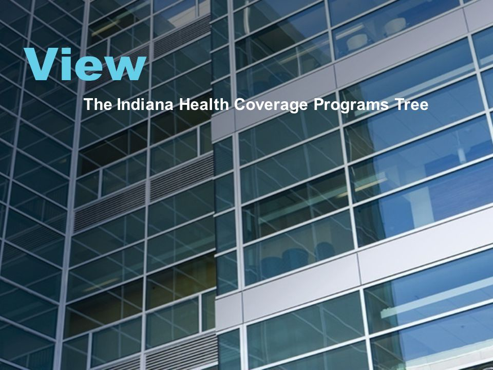 View The Indiana Health Coverage Programs Tree
