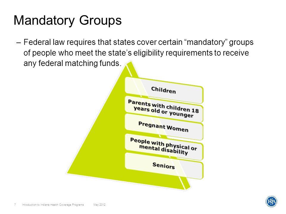 Mandatory Groups
