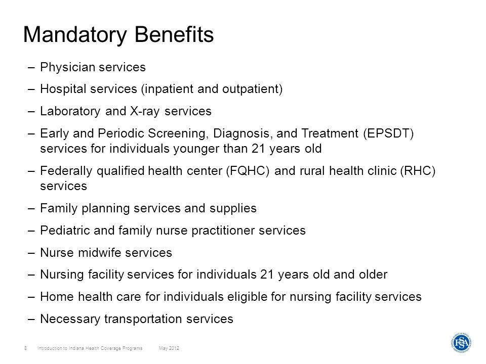 Mandatory Benefits Physician services