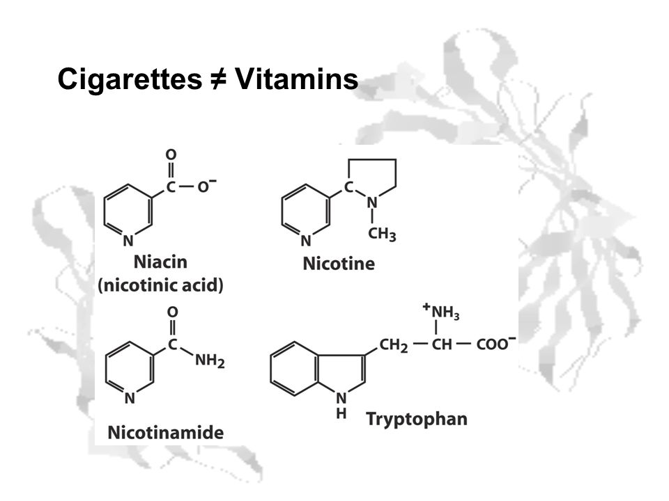 Cigarettes ≠ Vitamins