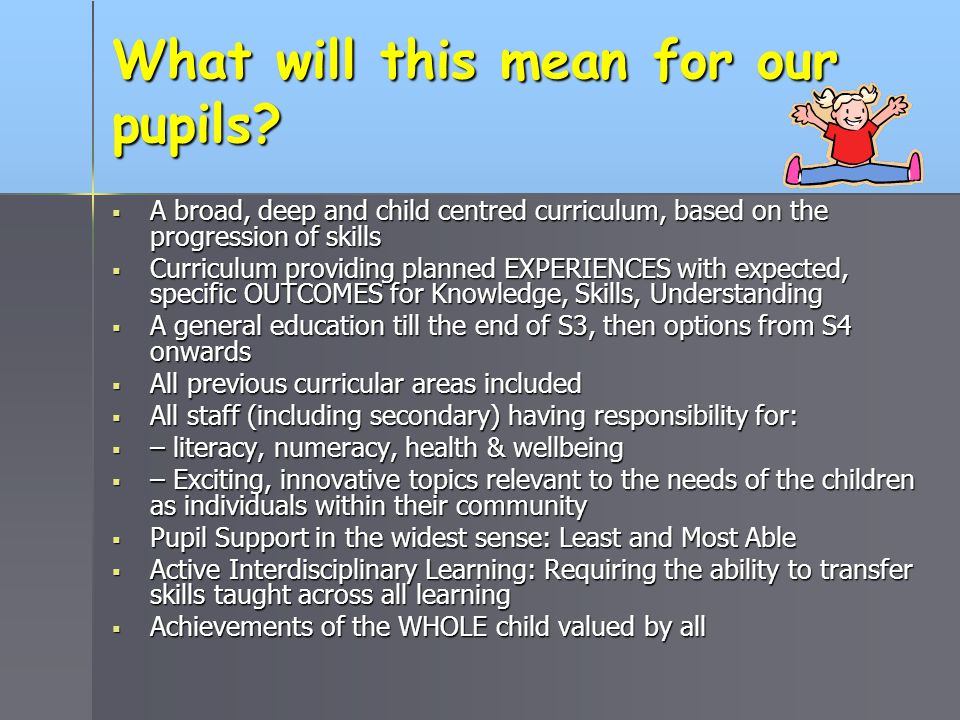 What will this mean for our pupils