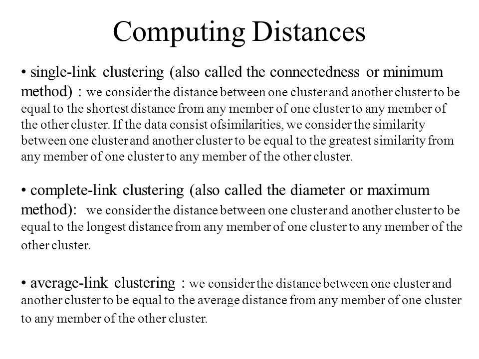 Computing Distances