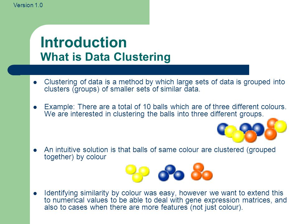 Introduction What is Data Clustering