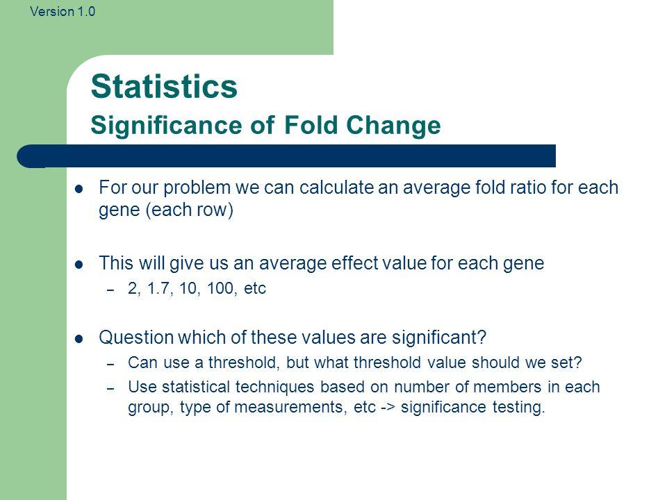 Statistics Significance of Fold Change