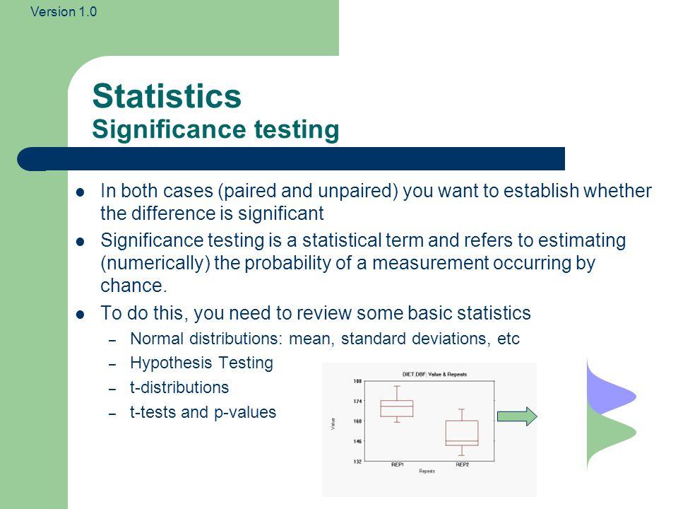 Statistics Significance testing