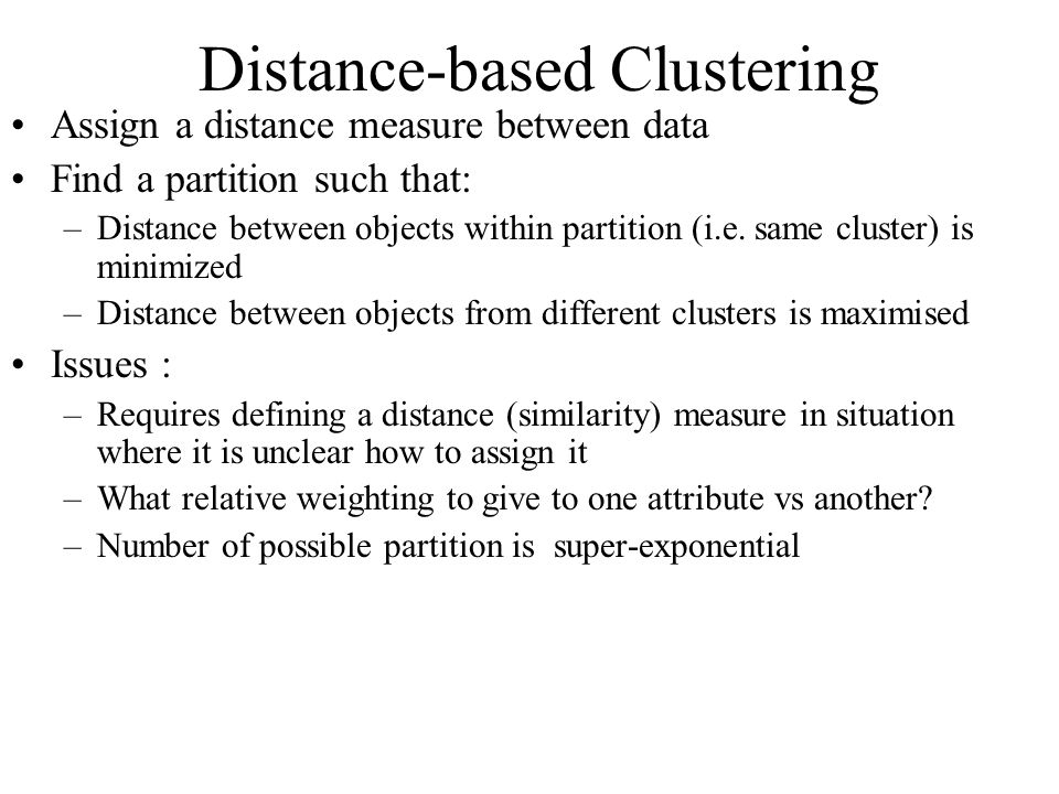 Distance-based Clustering