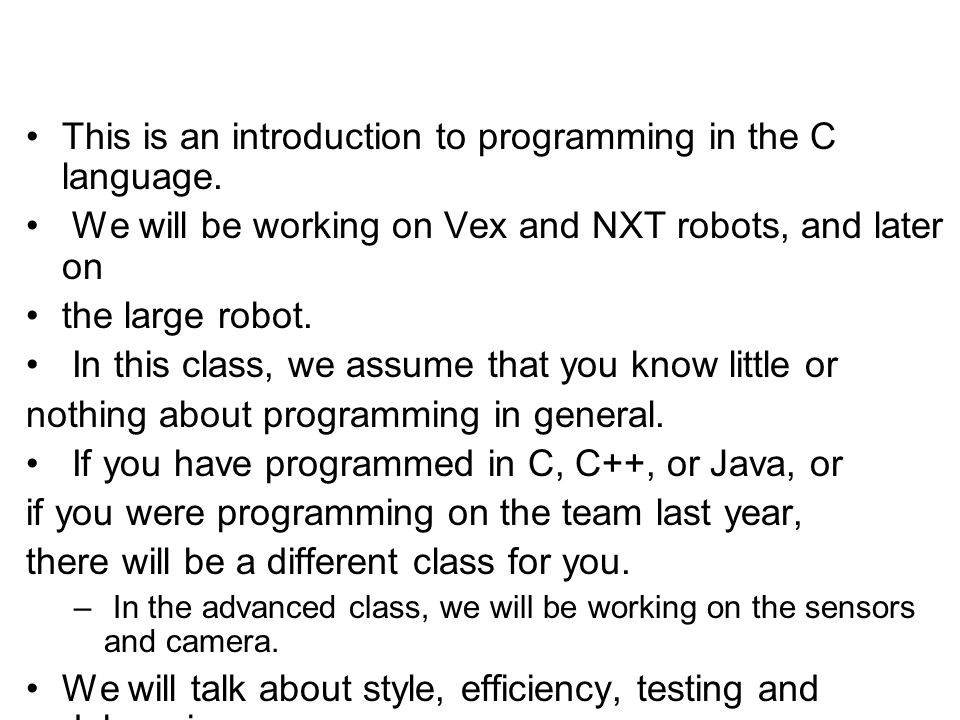 This is an introduction to programming in the C language.