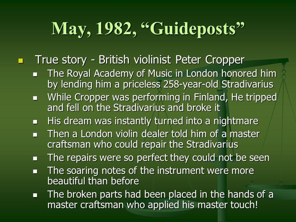 May, 1982, Guideposts True story - British violinist Peter Cropper