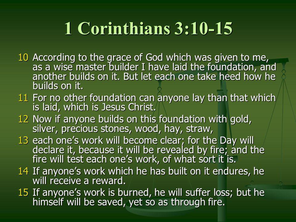 1 Corinthians 3:10-15